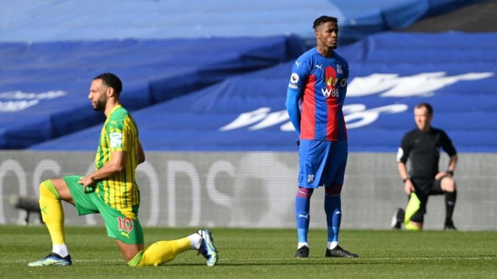 Wilfried Zaha refuse s'agenouiller racisme Premier League