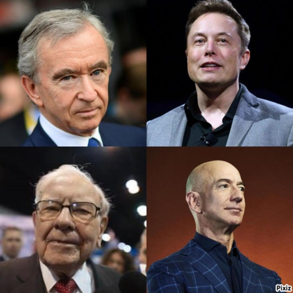hommes riches fortune au delà de 100 milliards