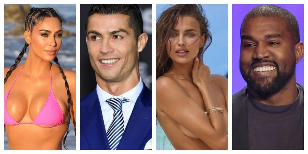 Kim Kardashian en couple Cristiano Ronaldo Irina Shayk Kanye West