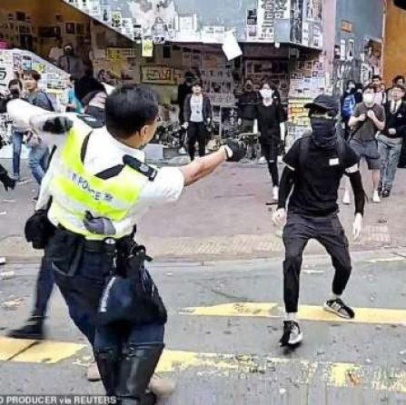 Youngest Hong Kong protester sentenced for rioting