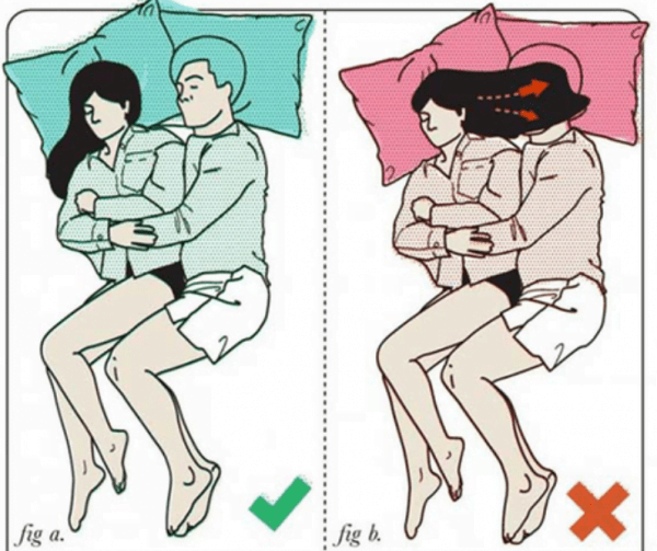 positions to sleep as a couple