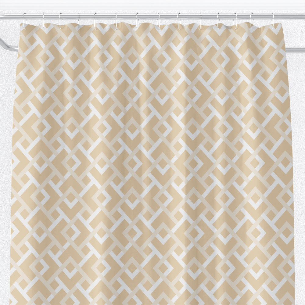 white diamond shower curtain in cream