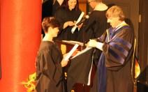 Receiving my diploma