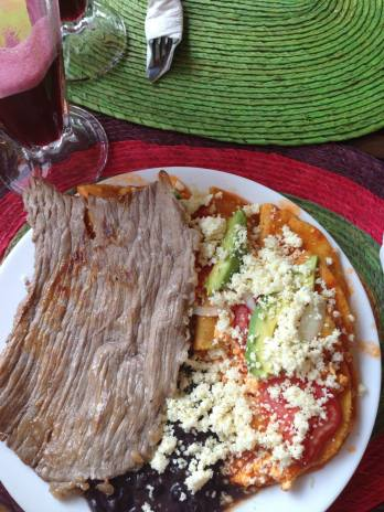 Delicious food at a restaurant called Xilitla Tours in Xilitla before you get to Las Pozas