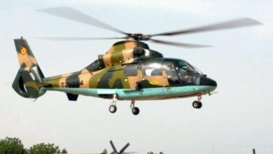 Military helicopter crash, 8 dead and several wounded