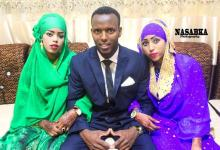 Somali: a man marries two pretty ladies the same time (video)