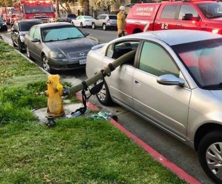 California fire brigade  recalls little subtle never to park at fire hydrant