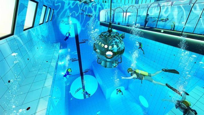 World's deepest swimming pool in Poland: Deepspot 45m deep
