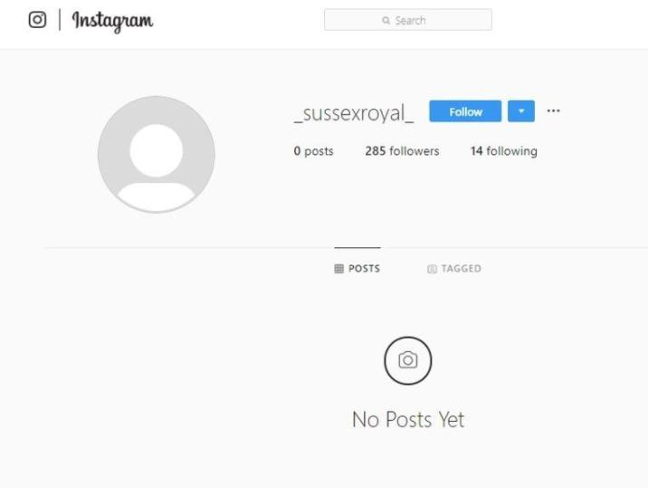 """""""Instagram grabbed my @sussexroyal and gave it to Harry and Meghan"""""""