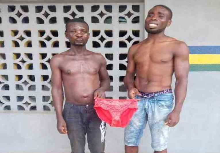 2 men arrested while fighting for women's underwear