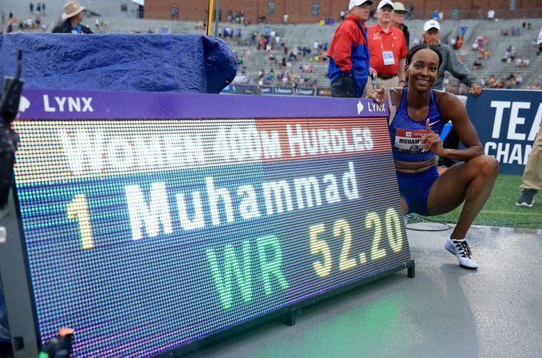 Dalilah Muhammad sets new world record at 400m hurdles