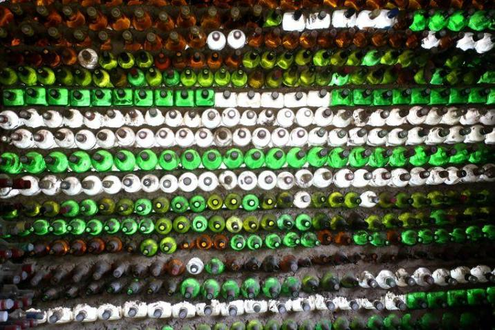 Unseen recycling: home of 6,000 discarded bottles