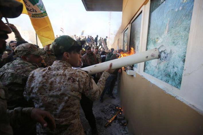 Iranian leader denies any involvement in riot at U.S. Embassy in Baghdad