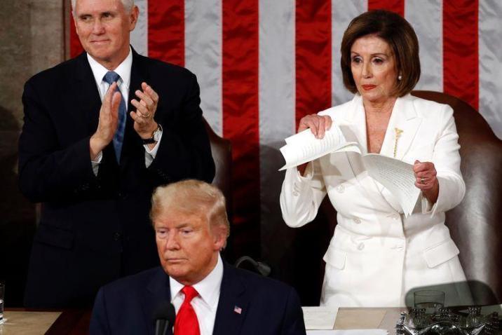 Why Nancy  tears Trump's speech to pieces