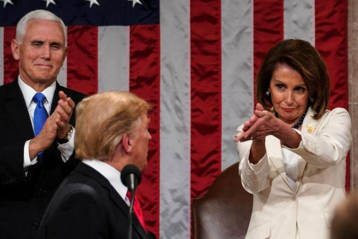 Pelosi at the previous State of the Union in 2019.