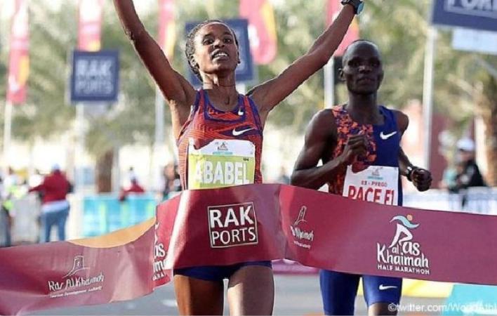 Ethiopian Yeshaneh improves world record at half marathon
