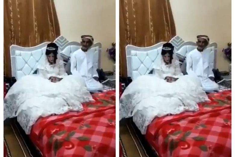 """""""This is disgusting"""": Arab man (80) marries 12-year-old girl [video]"""