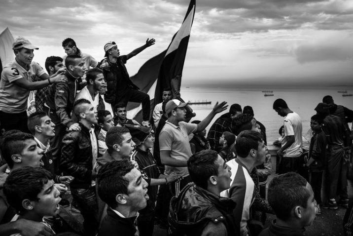A photo from the series 'Kho, the birth of a revolution' by photographer Romain Laurendeau