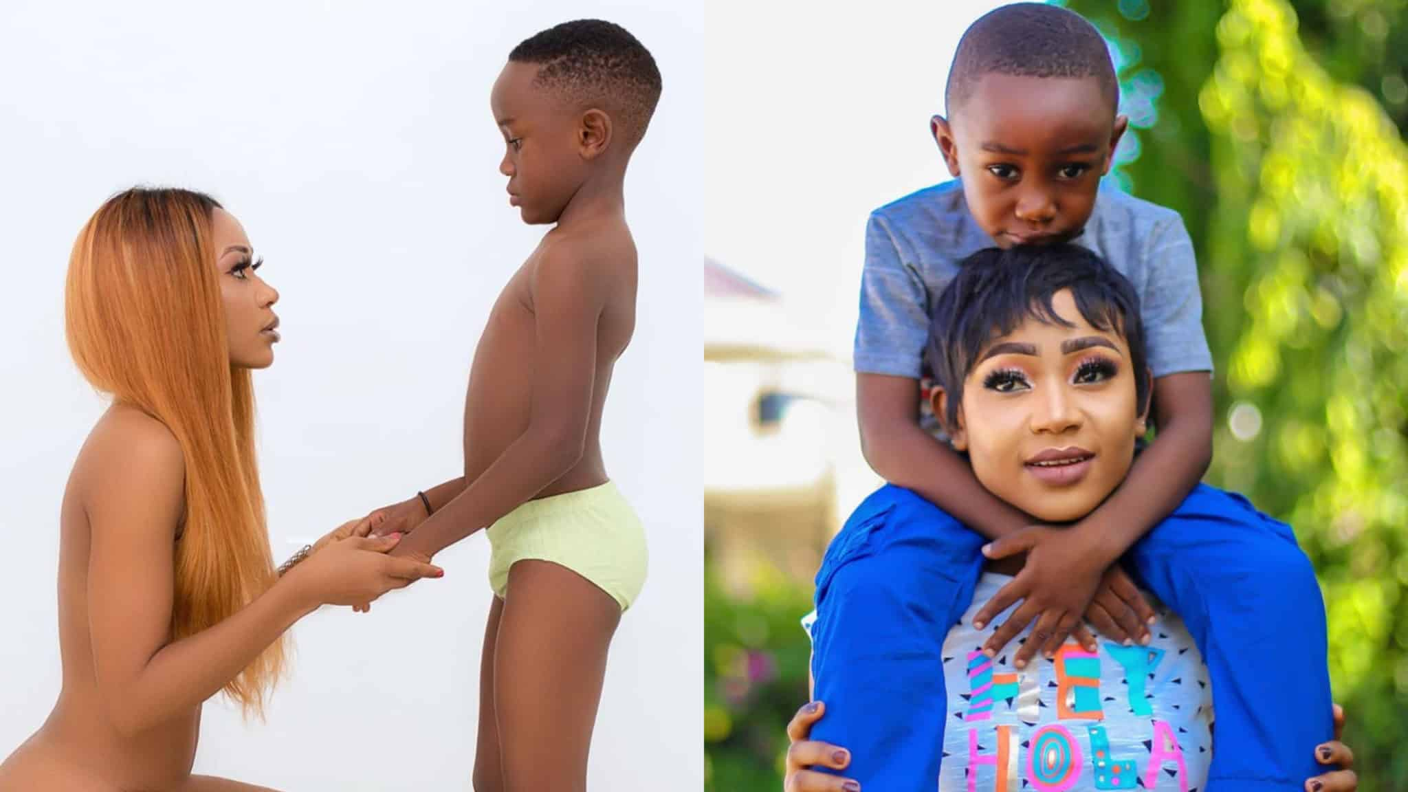 Sense or nonsense: controversial picture of Akuapem Poloo on her son's 7th birthday