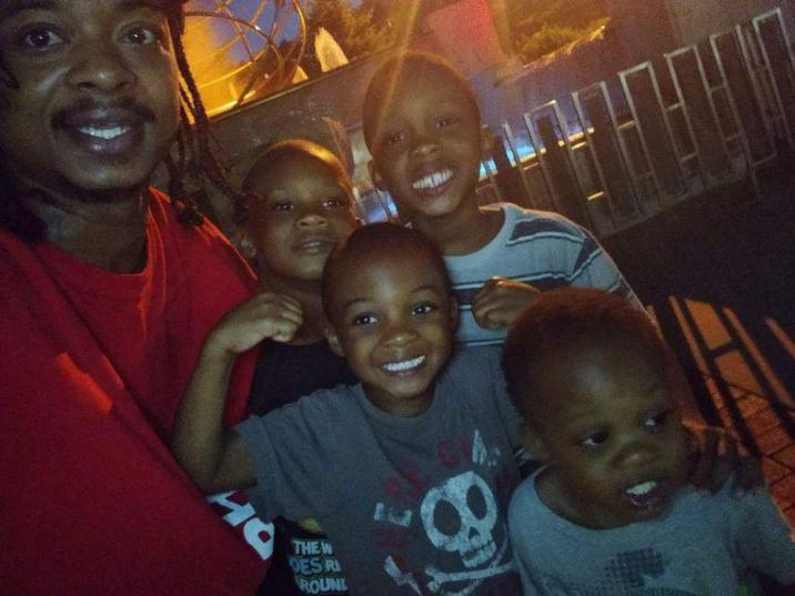 Jacob Blake with some of his six children.