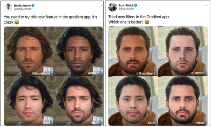 Brody Jenner (left) and Scott Disick (right) are promoting the new filter on Twitter. After a storm of criticism, they deleted their tweets.