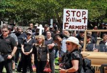 Protest of white South African farmers after Horner's murder