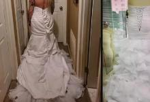 """You put the dress inside out"": bride criticizes ordered wedding dress but fluttering herself"