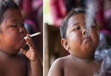 Life change of the 2-year-old who smokes 40 cigarettes a day