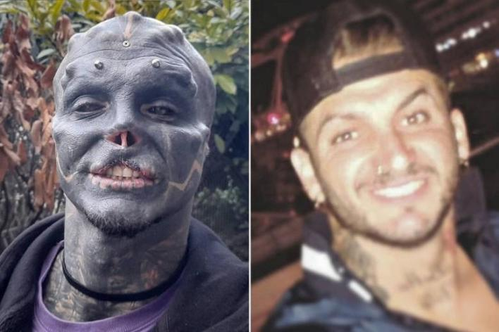 Anthony Loffredo, A man who turns himself into 'black alien'