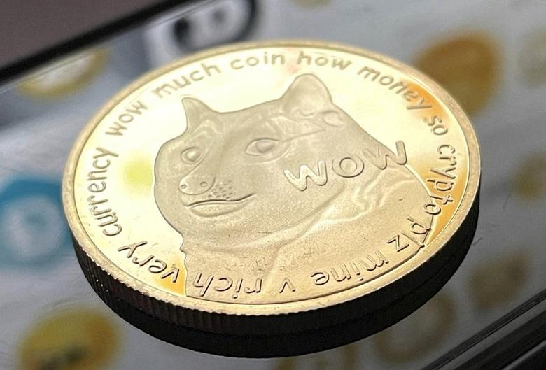 Crypto coins Dogecoin hits a new record