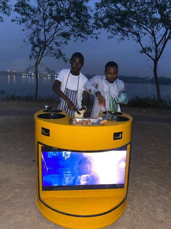 Solar-powered kiosk