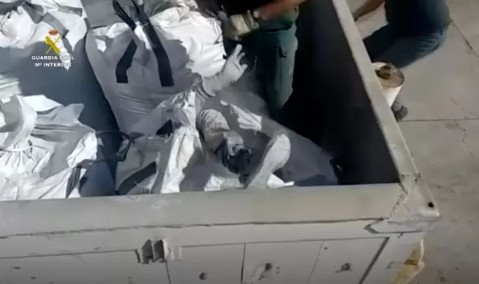 Migrants come to Europe in containers with glass and toxic waste