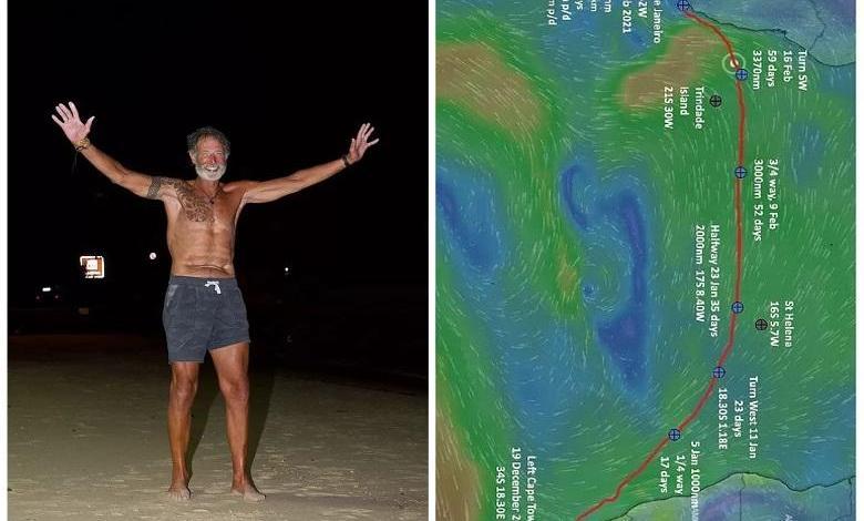 Zirk Botha row solo from Cape Town to Rio de Janeiro