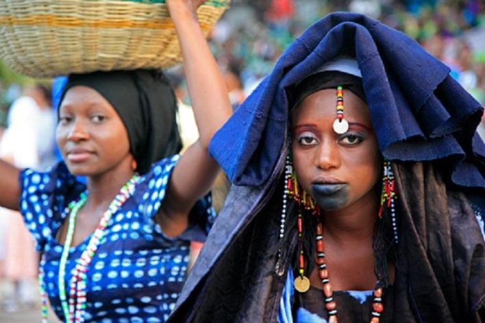 Fulani Women wearing traditional costume for Roots Festival