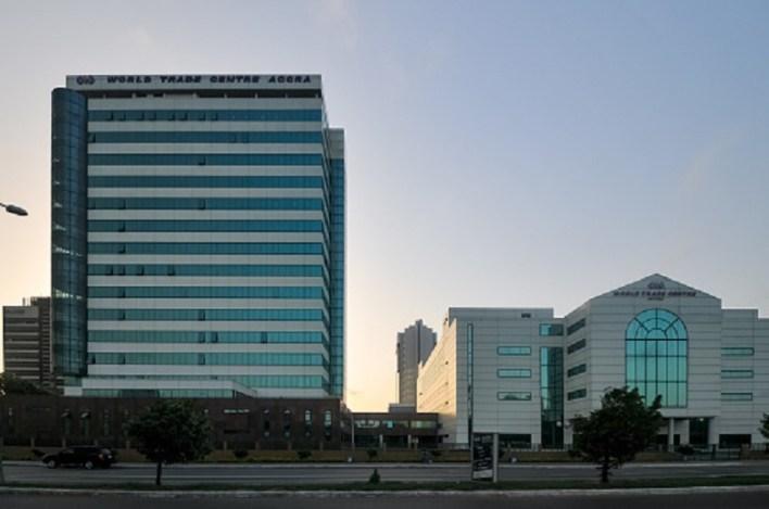 ACCRA, GHANA - APRIL 29, 2012: World Trade Center building of Accra, Ghana.