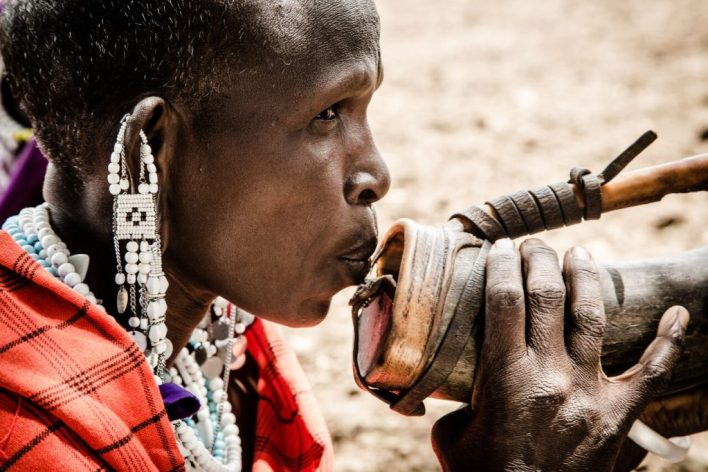 Kenya, Maasai: respectful spitting