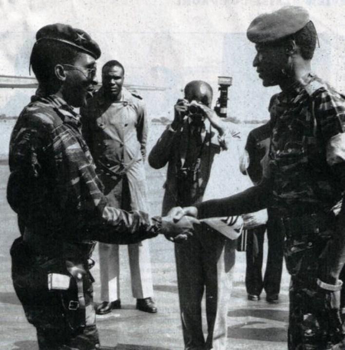 Captain Thomas Sankara and Captain Blaise Compaore