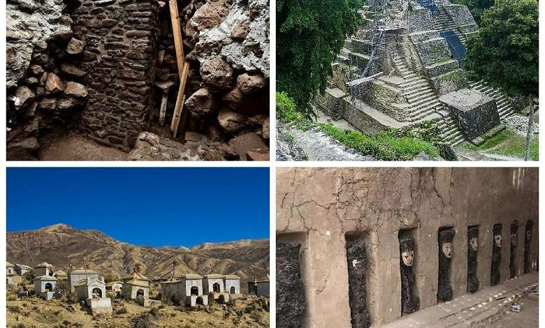Inca tombs, Mayan frescoes, and other archaeological discoveries in South America