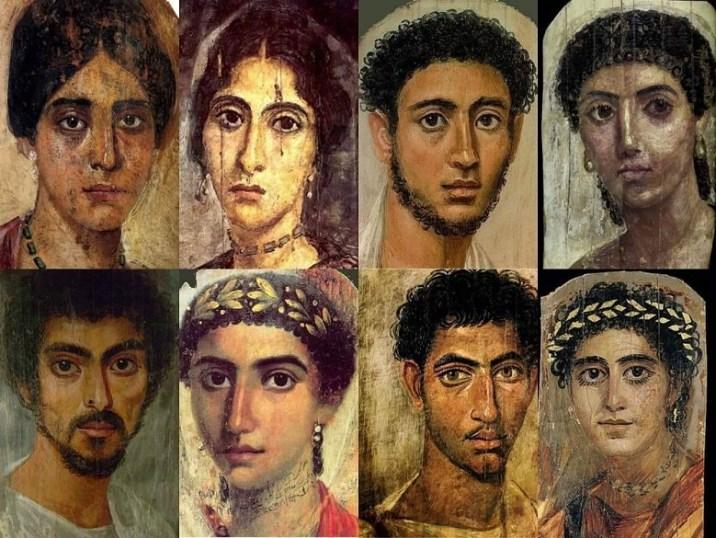 Mummy portraits or Fayum mummy portraits (also Faiyum mummy portraits)