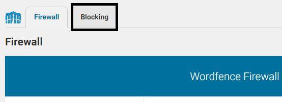 Navigate to Blocking