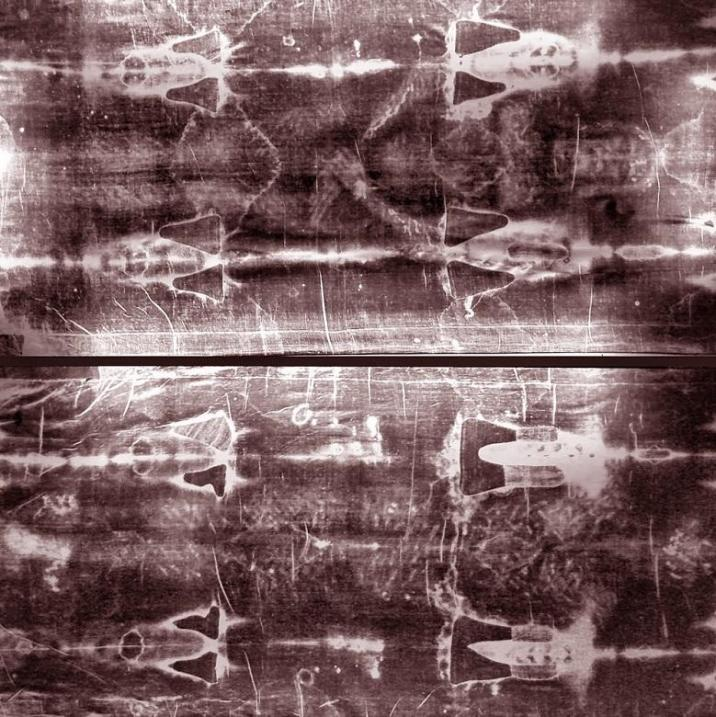 The Shroud of Turin or Turin Shroud is a length of linen cloth bearing the image of a man who appears to have suffered physical trauma in a manner consistent with crucifixion.