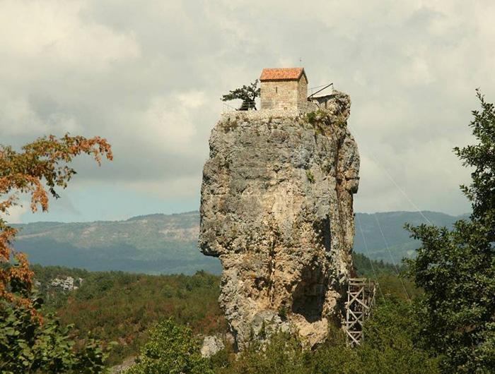 The Katskhi Pillar in Georgia