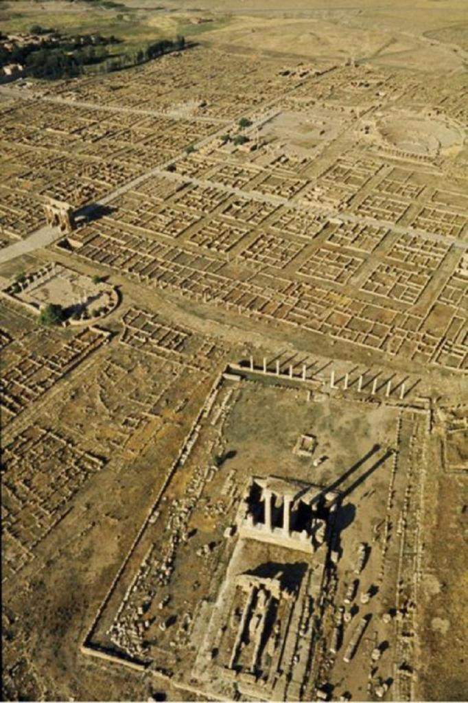 This is what Timgad looks like in an aerial photograph