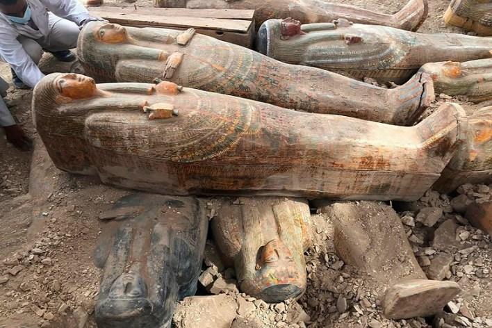 Thirty Egyptian mummies