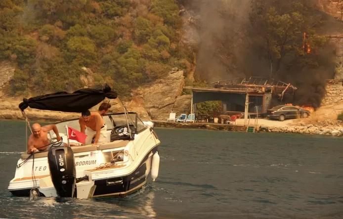 Boats were deployed to evacuate