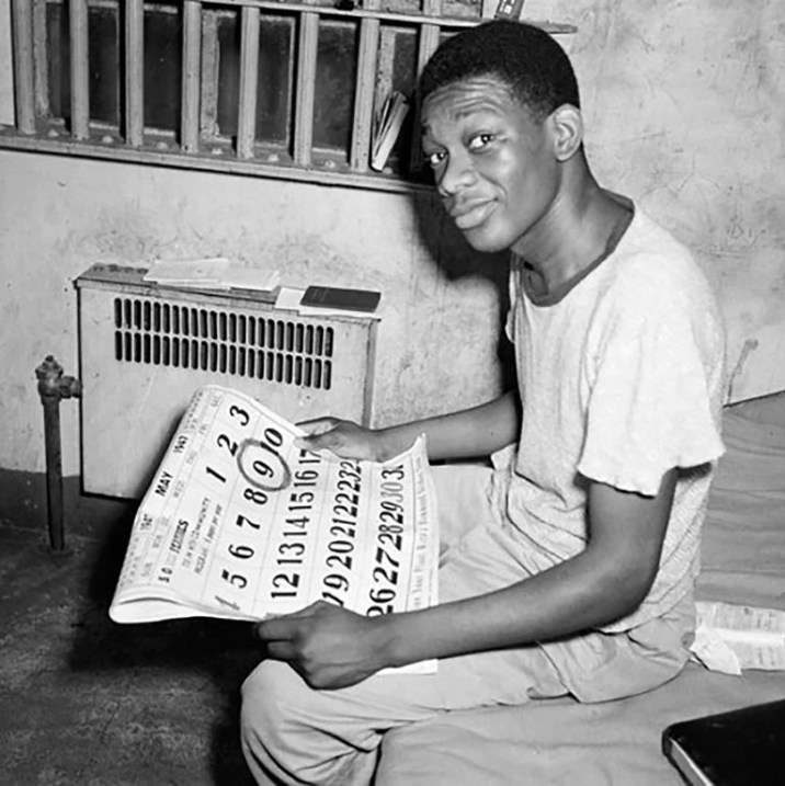 Willie Francis, a 17-year-old black teenager, sentenced in 1946 to die in the electric chair. He survived the discharge and months later he was seated again, this time to be executed.