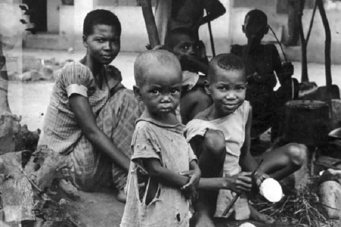 Biafran children during the war