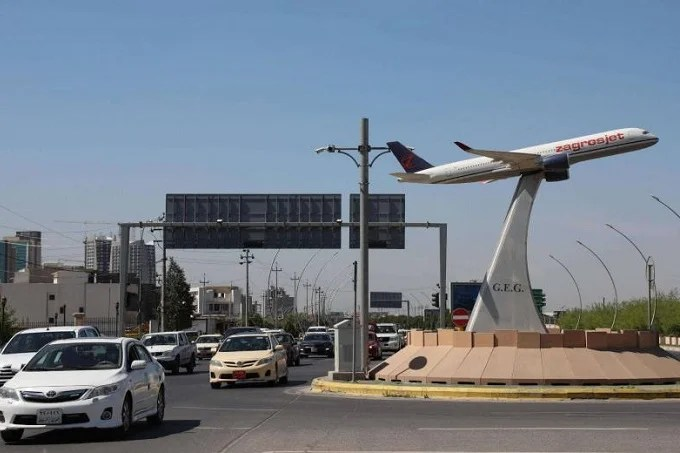 Iraqi airport hit by a drone strike