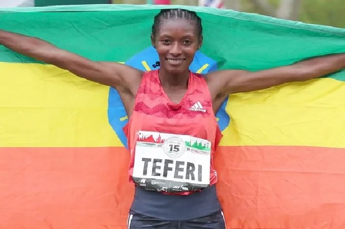 Sifan Hassan has lost her world record in the 5 kilometers to Teferi