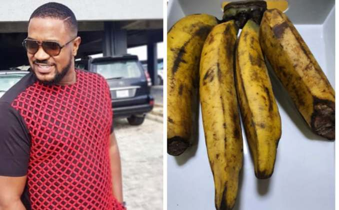 Actor Mofe Duncan shares photo of a bunch of plantain that cost N6000